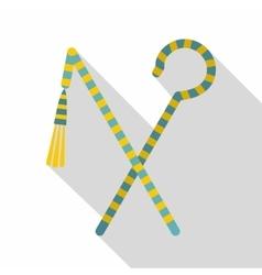 Pharaoh symbols icon flat style vector