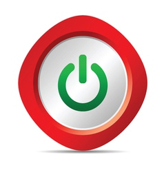 power button in red color vector image