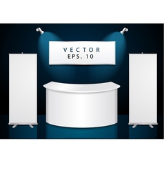 reception exhibition counter vector image