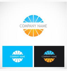 round shape colored globe company logo vector image