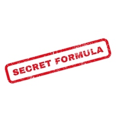 Secret formula rubber stamp vector
