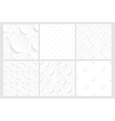 set of six seamless white backgrounds vector image