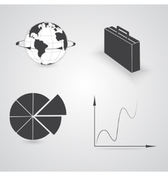 Set with business icons vector