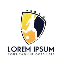 soccer football club logo design vector image vector image