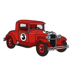 Vintage racing car vector