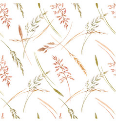 wild field grass pattern vector image