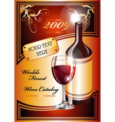 wine catalog flyer background vector image