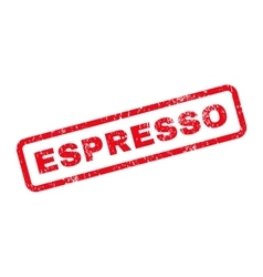 Espresso text rubber stamp vector