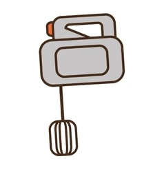 Cartoon electric mixer cooking kitchen appliance vector