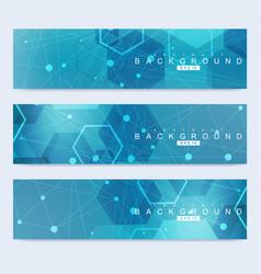 Scientific set of modern banners dna vector