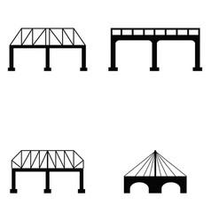 Bridge icon set vector