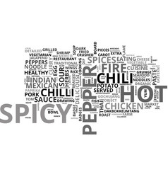 Spicy word cloud concept vector