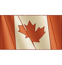 Vintage canadian flag background vector