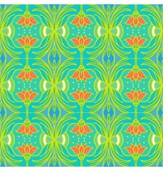 Pattern with flowers in tropical colors vector
