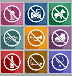 Icons prohibition vector