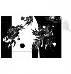original template for bag design vector image