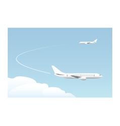 Landing approach vector image