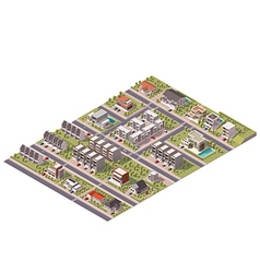 Isometric suburb map vector