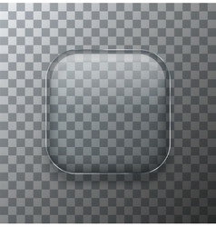 Modern transparent square glass plate vector