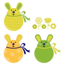 Bunny stickers vector