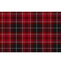 Pride of wales fabric textile red tartan seamless vector
