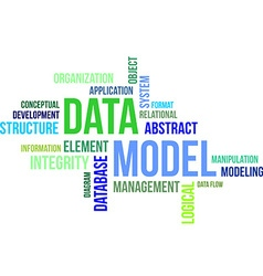 Word cloud data model vector