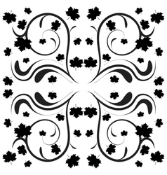 beautiful black and white floral background vector image