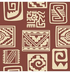 Seamless pattern with american indians relics vector
