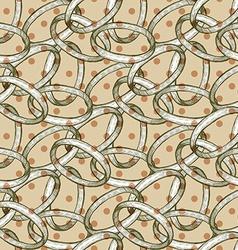 Abstract rings with polka dot vector image vector image
