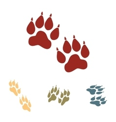 Animal tracks set isometric vector
