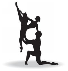 Ballet dancers silhouette vector