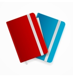 Blank copybook template set vector