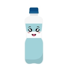 Bottle water kawaii style vector
