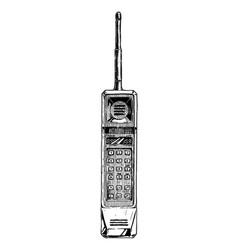 brick phone vector image vector image