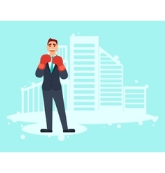 Businessman boxer vector image vector image