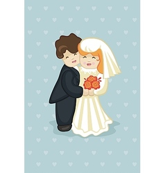 Cake newlyweds vector