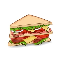 classic sandwich vector image