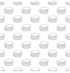 Coins pattern seamless vector