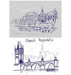 Czech drawing vector image