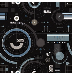 Engineering draft seamless pattern vector image vector image