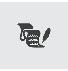 Feather and blank icon vector