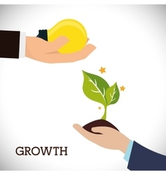 Financial Growth design vector image vector image