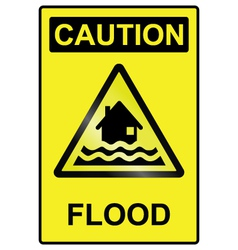 Flood hazard sign vector