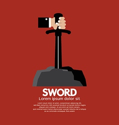 Hand Getting The Sword vector image vector image