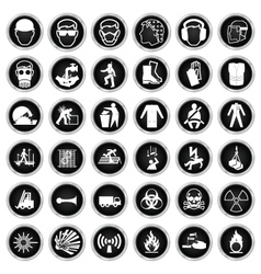 Health and Safety and hazard Icon collection vector image vector image