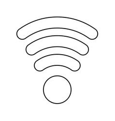 Line wifi symbol icon design vector