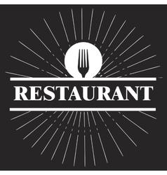 menu restaurant design vector image