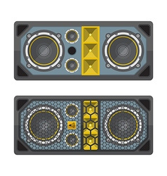 Professional concert tour array speakers colored vector