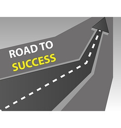 Road to success background vector image vector image