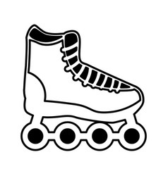 Skate online isolated icon vector